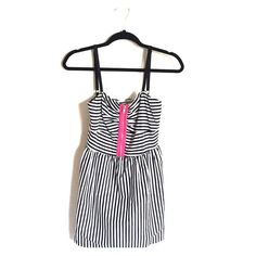 Hot topic Stripe Dress I've tried it once but never worn it out. Its basically brand new! There's no tag on it since I thought I was going to keep it. Its in good condition so far as I can tell since I've kept in my closet and never touch it. PM me if you have any questions :) Its a small-medium size in the middle when I bought it. Hot Topic Dresses