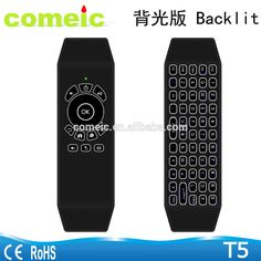2017 best android smart remote control T5 air mouse backlit keyboard