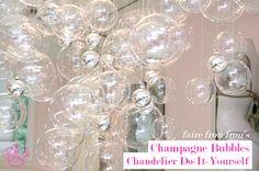 Bubble Chandelier DIY ~ Frou Frou Fashionista - Luxury Lingerie Blog for Faire Frou Frou in Los Angeles