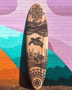 Spiritual Awakenings Surfing Art - Surf sign to remind you that the water awaits your board and you - Two-Tone Black Mug Longboard Design, Skateboard Design, Skateboard Art, Surfboard Painting, Surfboard Art, Sup Surf, Skate Surf, Marinha Wallpaper, Surfing Lifestyle