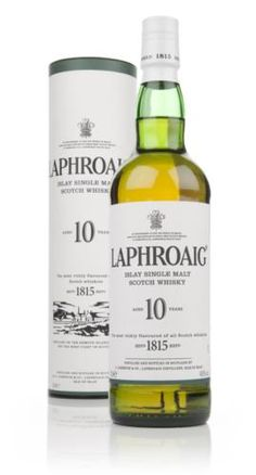 Really smoky and iodine rich. This has to be one of Scotland's most characterful drams. Laphroaig are known for their medicinal malts, and the classic 10 year old is no exception.
