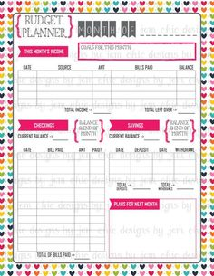 Free Printable Monthly Bill Payment Log Organizing