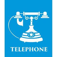 Stencil Opa 20x25 - Telephone OPA1785