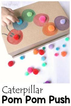 Caterpillar Pom Push For Toddlers