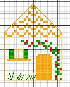 Ocra casa con le persiane verdi