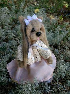 OOAK Needle Felted Yorkshire terrier puppy/dog   Dolls & Bears, Bears, Artist   eBay!
