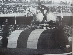 William Steinkraus on Volco's Duke, at the 1955 Pan American Games in Mexico.