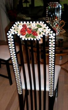 Mosaic Chair with Fruit