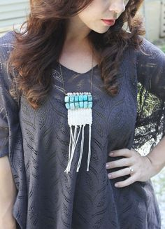 DIY Woven Stone Necklace Tutorial