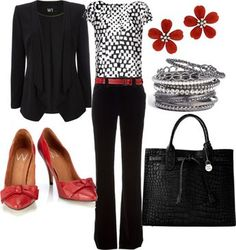 """black and red professional"" by lulums on Polyvore"