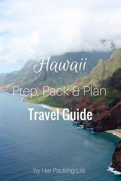 Hawaii Prep Pack Plan Travel Guide - books and movie guide too