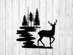 Deer Svg Files - forest deer Svg - Deer Silhouette - Clipart - For Cricut - Vector Graphics- For Silhouette - Dxf - Eps - Png Forest Silhouette, Animal Silhouette, Silhouette Design, Deer Silhouette Printable, Silhouette Cameo, Deer Head Silhouette, Deer Outline, Hirsch Silhouette, Deer Drawing
