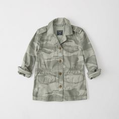 Camoflauge Jacket, Honeymoon Outfits, Shirt Jacket, Abercrombie Fitch, Coat, My Style, Shirts, Military Jackets, Outerwear Jackets