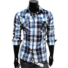 Mens premium slim fit check shirts
