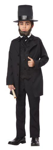 Abraham Lincoln/Andrew Jackson Child Costume by  California Costumes. Perfect for President's Day, school plays or book reports.