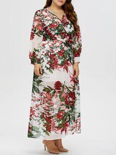 $12.39 Plus Size Maxi Floral Dress
