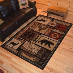 80 Best Rugs Images In 2019 Bear Decor Cabins Chalets
