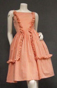 1950s gingham sun dress