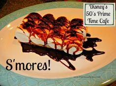 S'mores - 50's Prime Time Cafe Menu at Disney's Hollywood Studios #DisneyDining #WaltDisneyWorld
