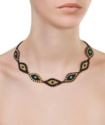 ZOE KOMPITSI Black and Gold Eye Necklace < ΓΥΝΑΙΚΑ