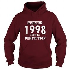 Cool 10 October 1998 October Born Birthday Aged to Perfection T Shirt Hoodie Shirt VNeck Shirt Sweat Shirt Youth Tee for womens and Men T shirts