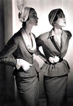 Dovima and Barbara Mullen ♥ 1950's