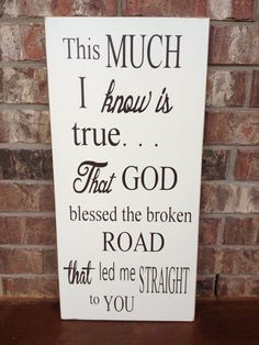 Large God Blessed The Broken Road That Led Me by FussyMussyDesigns, $29.00