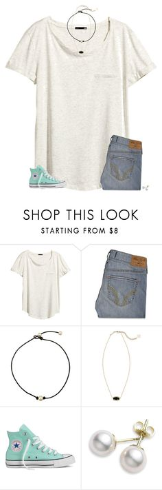 """ilysm❤️"" by secfashion13 ❤ liked on Polyvore featuring H&M, Hollister Co., Kendra Scott, Converse and Mikimoto"