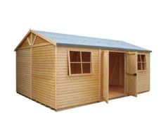 Shire 12' x 18' Wooden Loglap Shed x Workshop. Timber used throughout is kiln dried slow grown Siberian timber. B and Q has been FSC certified since 1999!
