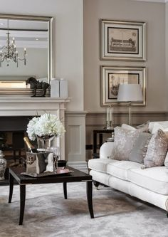 40 Gorgeous French Country Living Room Decor Ideas - Popy Home Elegant Living Room, Living Room Grey, Home And Living, Living Room Decor, Ralph Lauren Home Living Room, Cream Living Rooms, Formal Living Rooms, Living Area, Living Spaces