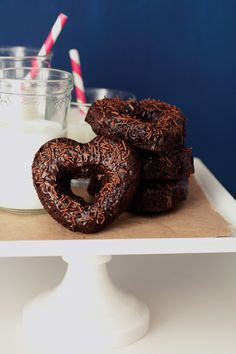 Double Chocolate Doughnuts