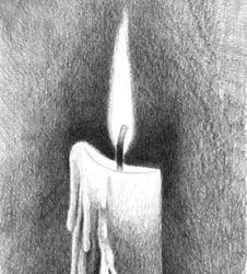 How to Draw a Candle and Flame — The Idiot's Quick Guide