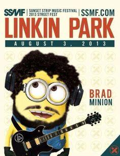 Brad Delson... Linkin Park Minion Rock