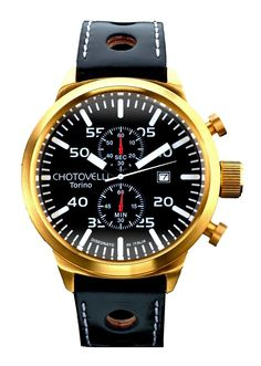 Chotovelli Big Pilot 7900 Aviation Watch Gold/Black TS7900-7