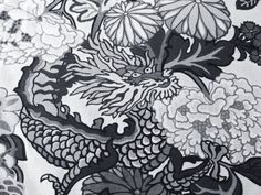"This Schumacher Chiang Mai Dragon Smoke Linen Decorative Pillow Cover is an Exquisite, High End Novelty Accent Pillow, that Presents the ..""CHIANG MAI DRAGON SMOKE"".. Screen Print Designer Pattern.   This Pattern Features the Well Known Fierce Chiang Mai Dragon Camouflaged within a Floral Vine Botanical Setting. East Asian Cultures Revere the Dragon as a Symbol of Wisdom and Thunderous Enlightenment.  Colors are Shades of Grey, From Light To Charcoal Grey, and Black."