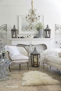 Shabby chic is an absolutely enchanting decor style, and today I'd like to share shabby chic living room decor ideas. Beautiful pastels or white living rooms. French Country Living Room, Country Decor, Shabby Chic Living Room, Chic Living Room, French Country Decorating Living Room, Farm House Living Room, Country House Decor, Living Room Designs, French Country Bedrooms