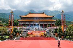Temple hall in Dali, Yunnan Province