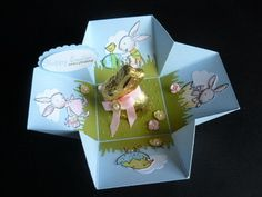 The Craft Spa: Easter Lindt Bunny Explosion Box aka Scallop Square Die #3
