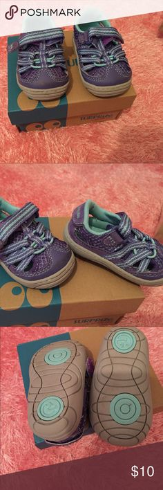 Purple and Teal Infant Shoes Surprise by Stride Rite. Wore once for 2 hours. Pretty much perfect condition! Stride Rite Shoes Baby & Walker