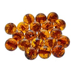 NATURAL ROUND POLISHED BALTIC  AMBER LOOSE 10 gr BEADS about 4-6mm