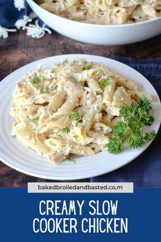 4 hours · Creamy Slow Cooker Chicken Best Slow Cooker, Crock Pot Slow Cooker, Slow Cooker Recipes, Crockpot Recipes, Creamy Chicken And Noodles, Slow Cooker Creamy Chicken, Gourmet Chicken, Yummy Chicken Recipes, Turkey Recipes