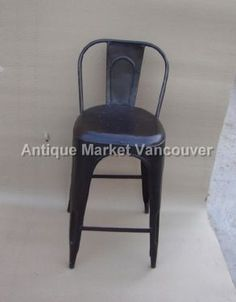 Industrial Furniture - Antiques Market Vancouver - Wholesale / Retail Metal Furniture, Industrial Furniture, Bistro Chairs, Antique Market, Vancouver, Bar Stools, Retail, Steel, Antiques
