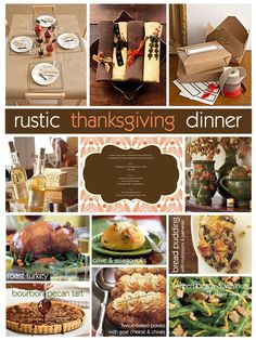 Rustic Thanksgiving Dinner ~ I think this is the theme I am going with this year. I love hosting our family holidays!