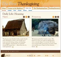 Free Technology for Teachers: Touring the Mayflower and Daily Life in Plymouth Thanksgiving History, Kindergarten Thanksgiving, Thanksgiving Crafts, Happy Thanksgiving, Articles For Kids, Elementary School Library, 4th Grade Social Studies, School Fun
