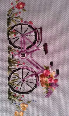 Flower Buds free cross stitch pattern from Alita Designs Cross Stitch Kitchen, Cross Stitch Art, Cross Stitch Borders, Cross Stitch Flowers, Modern Cross Stitch, Counted Cross Stitch Patterns, Cross Stitch Designs, Cross Stitching, Hand Embroidery Stitches