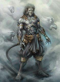 Hanuman made for beautiful viewing. Hanuman by tigerboy Fantasy Creatures, Mythical Creatures, Fantasy Warrior, Fantasy Art, Dark Fantasy, Character Art, Character Design, Lord Hanuman Wallpapers, Jai Hanuman