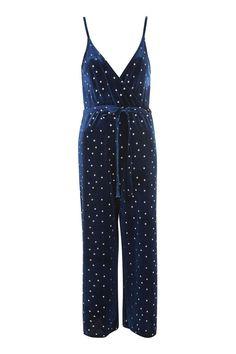 5dcf2d6c4675e9 Star Velvet Wrap Jumpsuit - New In Fashion - New In