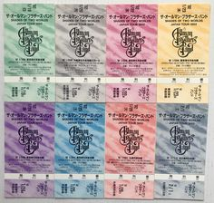 The Allman Brothers Band Concert Tickets Unused Shades Of Two Worlds Japan 1992 - Visible Vibrations Concert Tickets, Concert Posters, Allman Brothers, Second World, Shades, Japan, Band, Sash, Sunnies