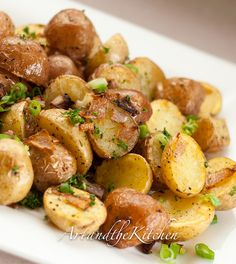 Parmesan Oven Roasted Potatoes   Art and the Kitchen -a quick and easy recipe for great tasting potatoes!