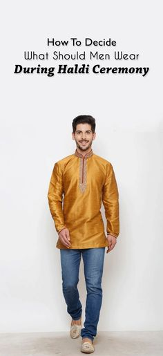 No efforts are put in by men to get the perfect look for haldi ceremony. So, here we have some outfit ideas for men. Indian Men Fashion, Mens Fashion Blog, Men's Fashion, Fashion Tips, Haldi Ceremony, Indian Man, Ethnic, Cool Style, Outfit Ideas